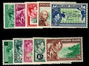 PITCAIRN ISLANDS SG1-8, COMPLETE SET, M MINT. Cat £75.