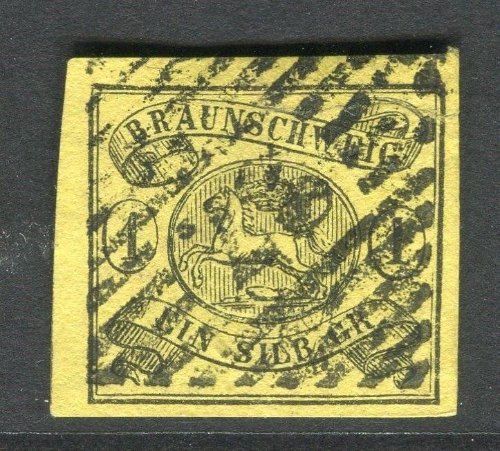 GERMANY  BRUNSWICK 1853-6 early classic Imperf issue 1sgr. fine used value