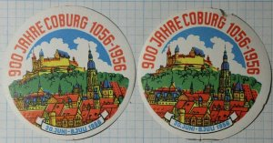 900 Years of Coburg Germany Exposition Poster Stamp Ads