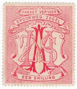 (I.B) South Africa Railways : Parcel Stamp 1/-