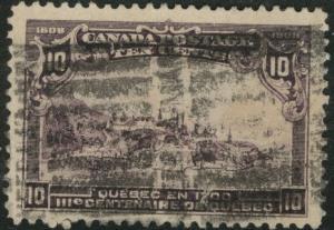 CANADA Scott 101 used 1908 10c stamp CV$125 heavy cancel