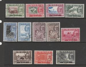 Malaya Kedah 1959 Defs set FU SG 104/114