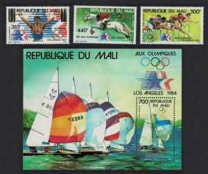 Mali Horses Sailing Olympic Games Los Angeles 3v+MS SG#1000-MS1003