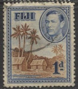 Fiji - Scott 118 - KGVI - Definitive - 1938 - Used - Single 1p- Stamp