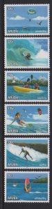 Aruba 2018 WATER SPORTS 6v MNH