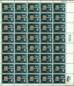 Stamp Collecting Sheet of Fifty 8 Cent Postage Stamps Scott 1474