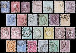 Netherlands Scott 7a // 48 (1867-94) Used H F-VF, CV $252.05 B