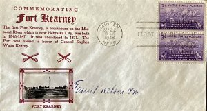 Crosby 970 Fort Kearney Nebraska Minden Missouri River Signed Postmaster Nelson
