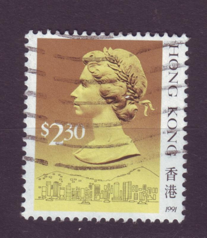 J9887 JL stamps 1991 hong kong used #593 queen