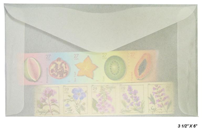 100 count - Glassine Envelopes #5 - ACID FREE - size 3 1/2 x 6 - NEW