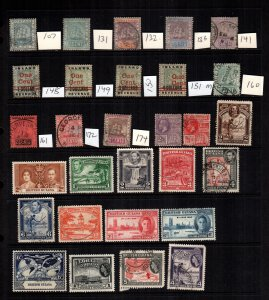 British Guiana  29  diff mint  hinged and used cat $30.00