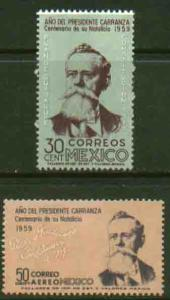 MEXICO 907, C246 Cent of the Birth of Venustiano Carranza MINT, NH. VF.