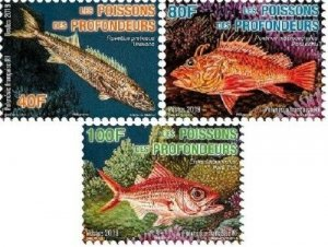 TAHITI (FRENCH POLYNESIA) / 2019 - Deep Sea Fishes, MNH