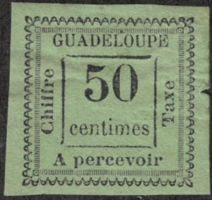 Guadeloupe #J12 Mint Hinged 25% of SCV $32 **FREE SHIPPING**
