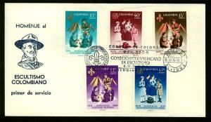 Colombia -1962 Scouting and Guiding FDC