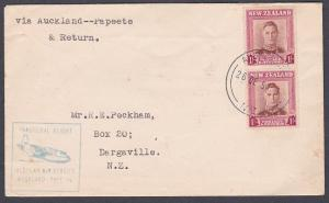 NEW ZEALAND 1951 first flight cover to Papeete Tahiti........................844