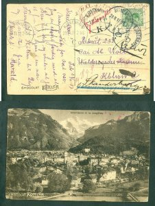 Denmark. Postcard 1917 Military.Private # 234.Vieldersgade Barak. Redir:Hospital