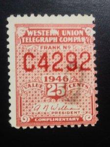 Us 1946 telegraph stamp