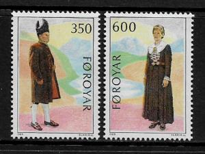 Faroe Is #189-90 MNH Set - Folk Costumes