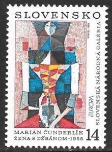SLOVAKIA 1993 EUROPA Art Issue Sc 166 MNH