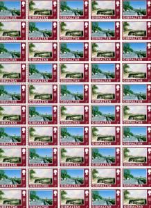 Gibraltar 1971 Sc#242a/272a Decimal Currency Issue (32) FULL SHEET OF 50 PAIRS