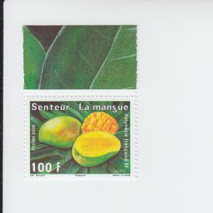 2010 French Polynesia Mango (Scented) (Scott 1030) MNH