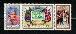 Royalty - Queen Elizabeth II - MNH Strip of 3, Lesotho
