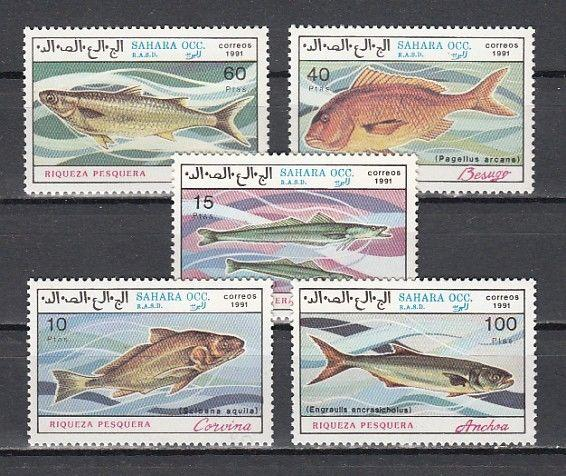 Sahara, 1991 issue. Various fish issue.