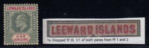 Leeward Islands, SG 26a, MLH Dropped R variety