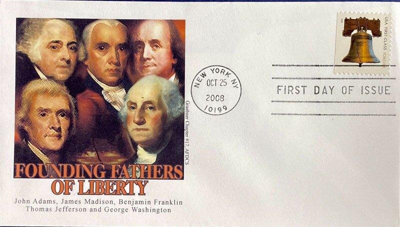 Graebner Chapter AFDCS 4127J Liberty Bell Forever Stamp New York City