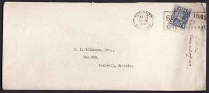 Canada #10403 - 5c KGV arch-double weight domestic letter rate -