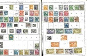 Venezuela 1939-1977 M & U Hinged on Minkus Global Pages.