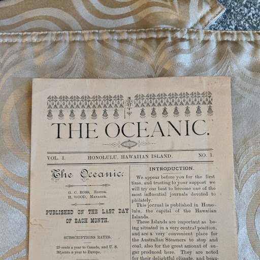 Hawaii The Oceanic Vol. 1, No. 1, extremely rare, $275