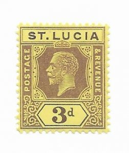 St. Lucia #84 MH - Stamp - CAT VALUE $2.75