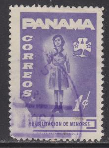 Panama RA58 Girl Scout Saluting 1964