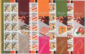 64435 -  GIBRALTAR - STAMPS - 2005 EUROPA CEPT: Gastronomy  MINIATURE SHEETS