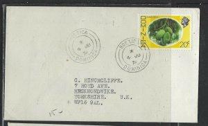 DOMINICA COVER (P1902B) 1976 QEII 20C  BOETICA   TO ENGLAND
