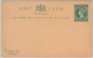 TOBAGO -  POSTAL STATIONERY CARD: Higgings & Gage # 7 - DOUBLE CARD