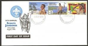 1995 Grenada Grenadines Boy Scouts World Jamboree FDC