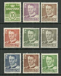 1950-1 Denmark Frederik IX C/S mint with gum faults