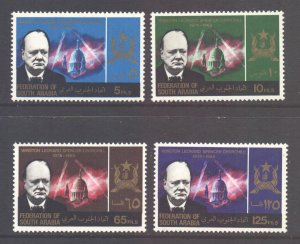 South Arabia Scott 19/22 - SG19/22, 1966 Churchill Set MH*