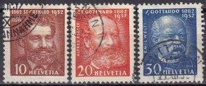 Switzerland #216-8   F-VF Used  CV $6.25  (Z6168)