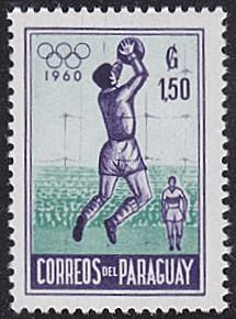 Paraguay # 559 hinged ~ 1.50g Soccer, Goalkeeper