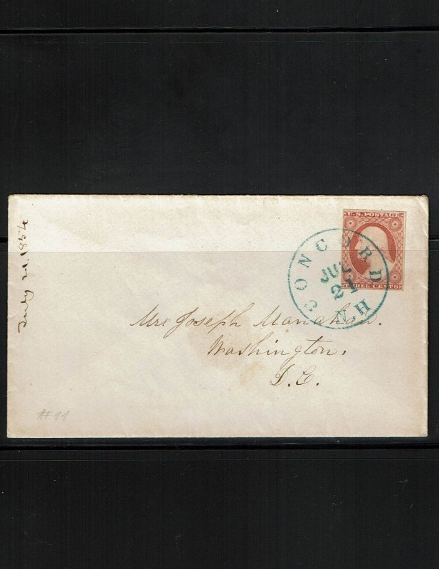 Scott 11A VF on cover