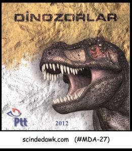 TURKEY - 2012 DINOSAURS - SPECIAL FOLDER with 3D stamps & 4-POSTCARDS