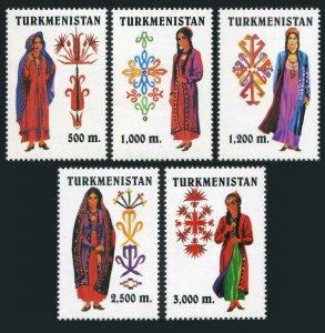 Turkmenistan 65-69,MNH. Women's National Clothing,1999.