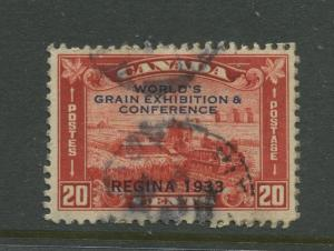 Canada  #203 Used  1933 Overprint Single 20c Stamp