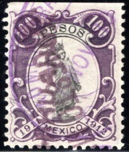 R 331C, MEXICO, 1911-1912, 100P, Liberty Standing, IMPUESTO, Internal Revenue