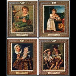 NIUE 1979 - Scott# B8-11 S/S Children Year NH