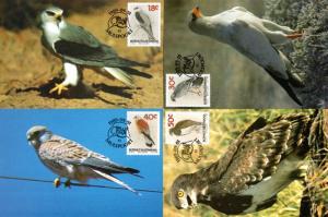 Bophuthatswana - 1989 Birds of Prey Maxi Card Set SG 223-226